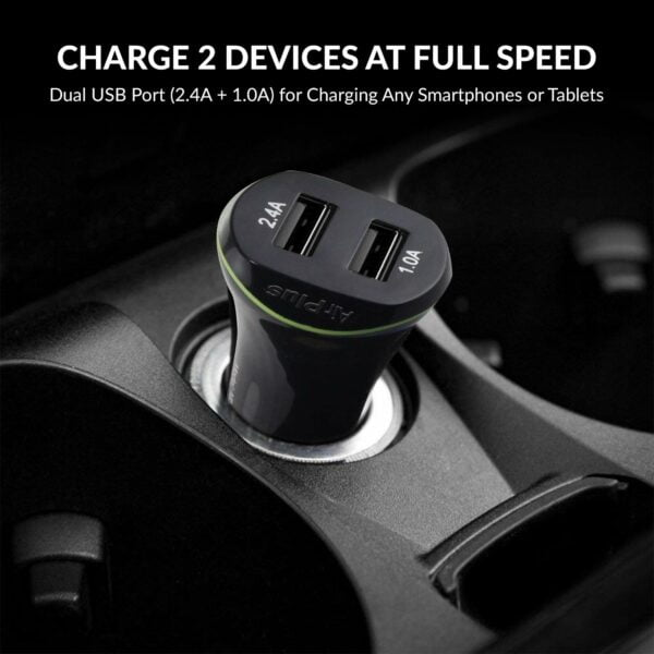 AirPlus 2-USB Port 3.4 Amp Car Charger