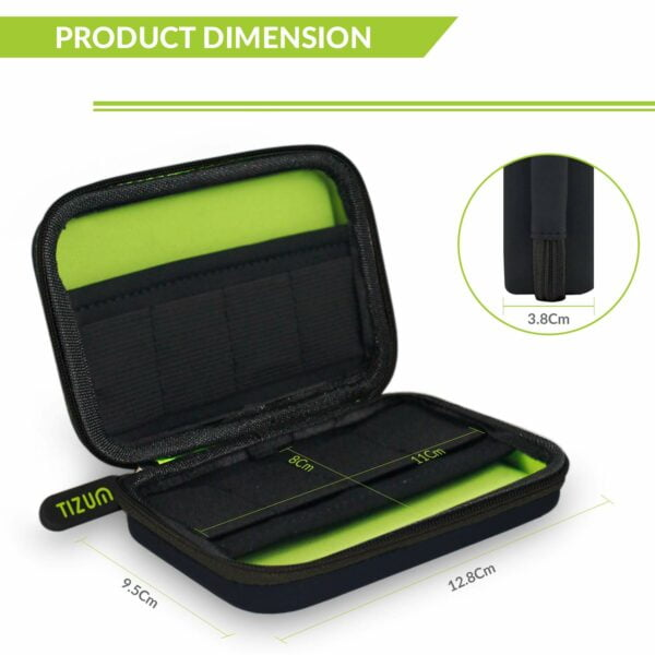 Tizum TM-PDC-111-GRY 8 x USB Flash Drives Carrying Case