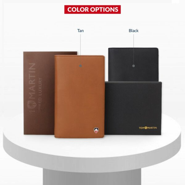 Tom Martin Leather Tan Brown Passport Cover