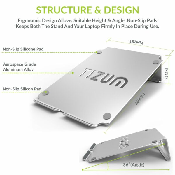 Tizum Air Vented Multi-Function Folding Portable Table Stand