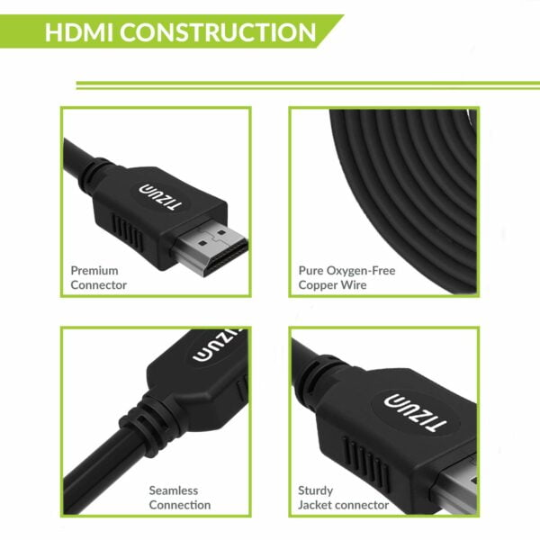 TIZUM High Speed HDMI Cable with Ethernet