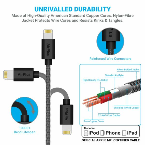 AirPlus MFI-Gen 2 8 Pin Lightning Cable