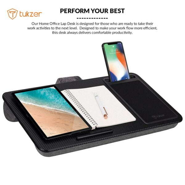 Tukzer Lap Desk Fits up to 17-Inch Laptop Angled Pillow Cushion